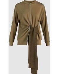 3.1 Phillip Lim - Tie-front Cotton Sweatshirt - Lyst