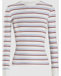 FRAME - 70's Striped Ribbed-knit Top - Lyst
