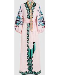 Yuliya Magdych - Favorite Wife Embroidered Linen Kafan - Lyst