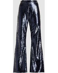 Safiyaa - Wide-leg Sequin Trousers - Lyst