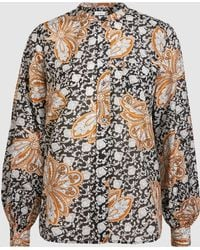 A.L.C. - Walter Printed Cotton And Silk-blend Blouse - Lyst