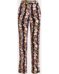 Equipment - Florence Printed Washed-silk Trousers - Lyst