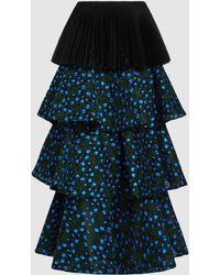Razan Alazzouni - Tulle Layered Maxi Skirt - Lyst