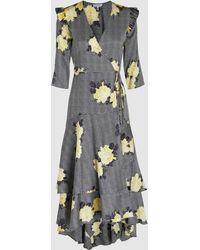 Ganni - Calla Silk Wrap Dress - Lyst