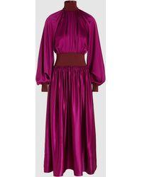 ROKSANDA - Minerva Silk-satin Long-sleeve Dress - Lyst
