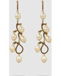Marni - Gold-tone Faux Pearl Earrings - Lyst