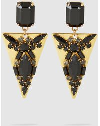 Erickson Beamon - Lady Luck Embellished Gold-plated Earrings - Lyst