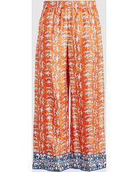 ESCADA Twila Printed Silk Trousers