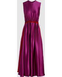 ROKSANDA - Keeva Silk Satin Midi Dress - Lyst