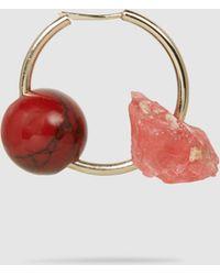 Proenza Schouler - Cluster Rock Stone Hoop Earrings - Lyst