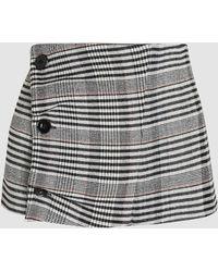 Jil Sander - Chequered Button-detail Wool-blend Waist Belt - Lyst