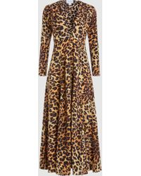 We Are Leone - Leopard-print Silk Robe - Lyst