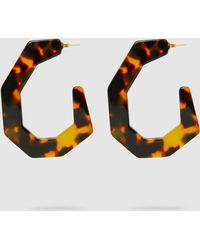 Rachel Comey - Factor Tortoiseshell Structured Hoop Earrings - Lyst