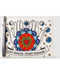 Sarah's Bag - Love Dealer Embroidered Canvas Pouch - Lyst