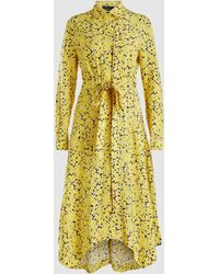 Cedric Charlier - Floral Print Belted Shirt Dress - Lyst