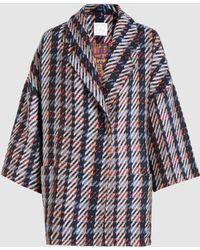 Stella Jean - Oversized Tweed Coat - Lyst