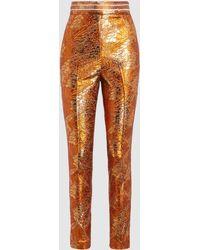 Peter Pilotto - Metallic Stretch-jacquard Skinny Trousers - Lyst