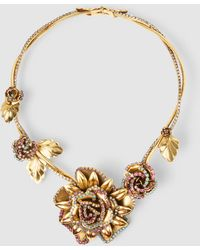 Erickson Beamon - Crystal Flower Necklace - Lyst