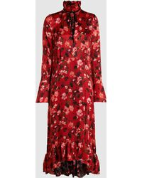 Mother Of Pearl - Adelaide Floral Piecrust Midi Dress - Lyst