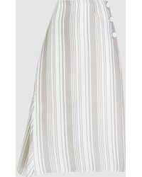 Jil Sander - Asymmetric Striped Shirt - Lyst