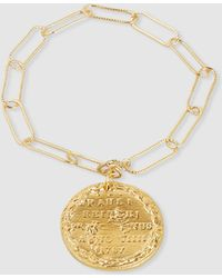 Alighieri - Il Leone Gold-plated Coin Charm Bracelet - Lyst