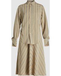 Hope - Cay Check Tie-waist Midi Dress - Lyst