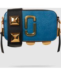 Marc Jacobs - Snapshot Studded Leather Shoulder Bag - Lyst