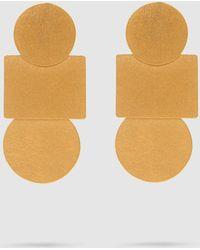 Annie Costello Brown - Mini Popova Gold-tone Earrings - Lyst