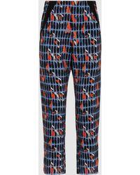 Zero + Maria Cornejo - Elli Printed Silk-blend Trousers - Lyst