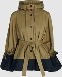 Palmer//Harding - Two-tone Cotton-twill Cape Jacket - Lyst