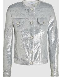 IRO - Dalome Sequinned Jacket - Lyst