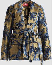 F.R.S For Restless Sleepers - Floral Devore Lurex Pajama Jacket - Lyst