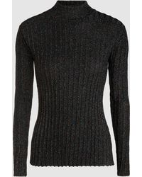 Stine Goya - Erika Sparkle Ribbed Knit Funnel-neck Jumper - Lyst