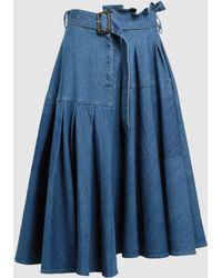 JW Anderson - A-line Belted Denim Skirt - Lyst