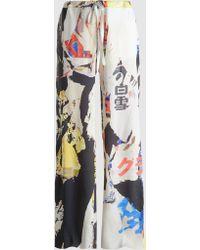 Marques'Almeida - Poster Print Silk Pajama Trouser - Lyst