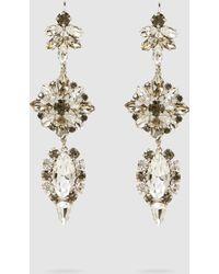 Alberta Ferretti - Silver Glass Crystal Earrings - Lyst