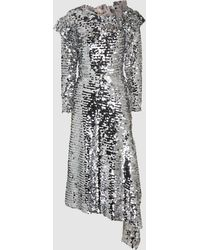 Preen By Thornton Bregazzi - Jodie Sequinned Off-the-shoulder Midi Dress - Lyst