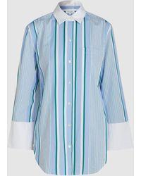 Equipment - Clarke Striped Cotton Shirt - Lyst
