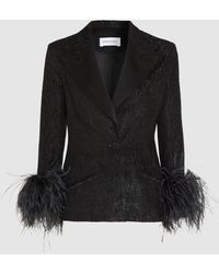 16Arlington Textured Fitted Blazer - Black
