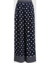 LAYEUR - Polka-dot Crepe Palazzo Trousers - Lyst