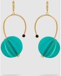 Marni - Gold-tone & Resin Lantern Earrings - Lyst