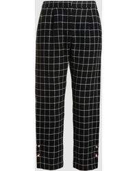 Mother Of Pearl - Jewell Checked Trousers With Pearl Detail - Lyst