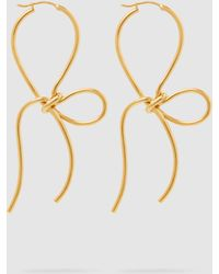 Simone Rocha - Gold-plated Bow Earrings - Lyst
