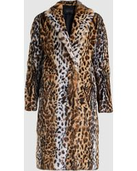 Cedric Charlier - Leopard Print Coat - Lyst