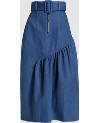 Rejina Pyo - Bonnie Asymmetric Denim Midi Skirt - Lyst