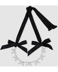 Simone Rocha - Bow Crystal Necklace - Lyst