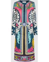 Mary Katrantzou - Printed Cotton And Silk-blend Coat - Lyst