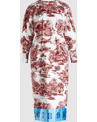 Stella Jean - Printed Twill Midi Dress - Lyst