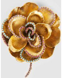 Erickson Beamon - Crystal Flower Brooch - Lyst