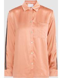 Beautiful Bottoms - Sandwashed Silk-satin Shirt - Lyst